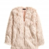 jasnoróżowe futro H&M