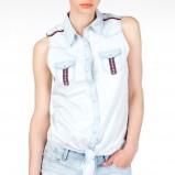 jeansowa bez rękawów koszula Stradivarius - trendy na lato