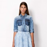 jeansowa koszula Bershka - jesienna moda