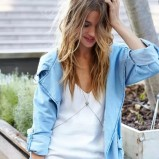 jeansowa narzutka Nasty Gal - lato 2013