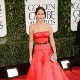 Jennifer Lawrence w czerwonej sukni