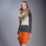 jesienna sukienka Pretty Girl w pasy - jesień i zima 2012/13