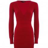 jesienna sukienka - tunika Tally Weijl w kolorze bordowym  - jesień - zima 2012/13