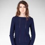 jesienny sweter Stradivarius w kolorze granatowym   - kolekcja damska 2012/13