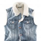 kamizelka H&M z futerkiem dżinsowa - jesień 2011