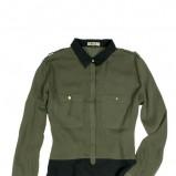 khaki koszula Moodo  - kolekcja wiosenno-letnia