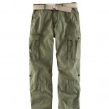 khaki spodnie H&M z kieszeniami - sezon letni