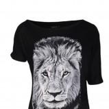 Klasyczna czarna bluzka Mohito asymetryczna z kolekcji jesień/zima 2012/2013