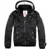 Klasyczna czarna kurtka Assassin z kapturem skórzana  kolekcja jesienno-zimowa
