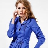 Klasyczna niebieska koszula Heppin długa trendy na jesień-zimę
