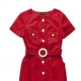 klasyczna sukienka Bialcon w kolorze czerwonym - moda damska 2013