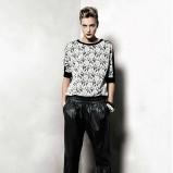 Klasyczne czarne spodnie Mango skórzane trendy 2012/13