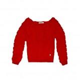 Klasyczny czerwony sweter Cropp z dekoltem w łódkę nowość 2012/2013/na sezon jesienno-zimowy