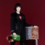 klasyczny płaszcz Fendi w kolorze czarnym - moda na zimę 2013/14