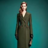 klasyczny płaszcz Gucci w kolorze khaki - jesienne trendy 2013