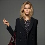 klasyczny płaszczyk Massimo Dutti w kolorze czarnym - kolekcja damska 2012/13