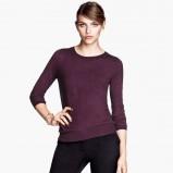 klasyczny sweter H&M w kolorze bordowym - moda na zimę 2013/14