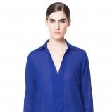 kobaltowa koszula ZARA - trendy na wiosnę