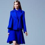 kobaltowa sukienka Elie Saab - moda na zimę 2013/14