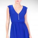 kobaltowa sukienka Stradivarius - moda na lato 2013