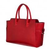kobieca torebka SCALLINI w kolorze czerwonym - dodatki dla kobiet