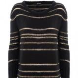 Kobiecy czarny sweter Tally Weijl w paski moda jesień/zima