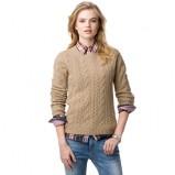 Kolekcja Tommy Hilfiger bezowy sweter z wytłoczonym wzorem  na jesień i zimę 2012/2013