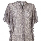 kolorowa bluzka InWear w geparda prześwitująca - kolekcja letnia