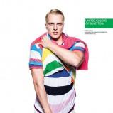 kolorowa koszulka Benetton w paski - moda 2013