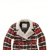 kolorowa kurtka C&A w kratkę krótka - jesień/zima 2011/2012
