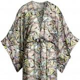 kolorowa spódnica H&M we wzorki maxi - lato 2012