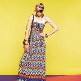 kolorowa sukienka Bershka we wzorki - lato 2011