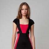kolorowa sukienka Bershka z krótkim rękawem - wiosna/lato 2012