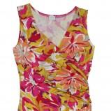 kolorowa sukienka Bialcon w kwiaty - moda wiosna/lato