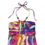 kolorowa sukienka C&A w plamy długa - kolekcja na lato