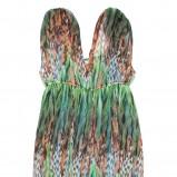 kolorowa sukienka C&A we wzory - letnia kolekcja