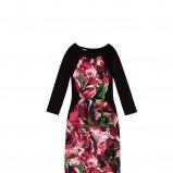 kolorowa sukienka DanHen - jesień 2012