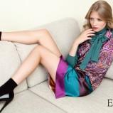 kolorowa sukienka Echo - jesień/zima 2011/2012