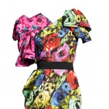 kolorowa sukienka H&M - jesień/zima 2010/2011