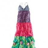 kolorowa sukienka H&M maxi - wiosna/lato 2012