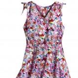 kolorowa sukienka H&M w kwiaty - wiosna/lato 2012