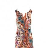kolorowa sukienka H&M we wzory - jesień 2011
