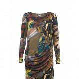 kolorowa sukienka marki Solar marszczona model na jesień i zime 2012/2013