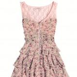 kolorowa sukienka Orsay z falbanami - z kolekcji wiosna-lato 2012