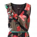 kolorowa sukienka s.Oliver w kwiaty - z kolekcji wiosna-lato 2012