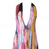 kolorowa sukienka Stefanel długa - wiosna/lato 2012