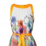 kolorowa sukienka Stefanel w kwiaty - wiosna/lato 2012