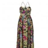 kolorowa sukienka Top Secret w kwiaty długa - kolekcja na lato
