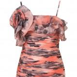kolorowa sukienka Topshop na ramiączkach - moda wiosna/lato