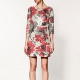 kolorowa sukienka ZARA w kwiaty - wiosna/lato 2012